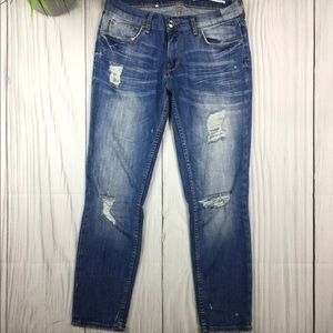 Zara Distressed Relaxed Fit Jean SZ 4